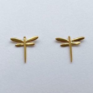 Guldörhängen med sländor