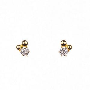 Guldörhängen med guldstenar och sten