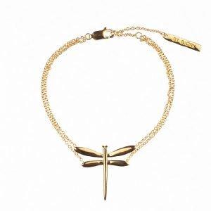 armband i guld med slända