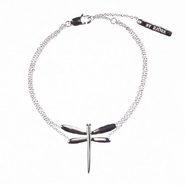 silverarmband med slända