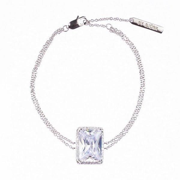 silverarmband med sten