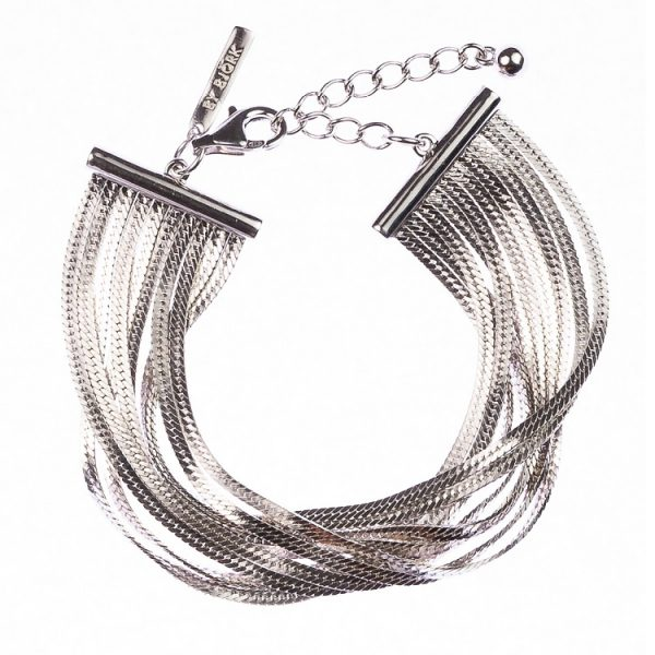 silverarmband med kedjor
