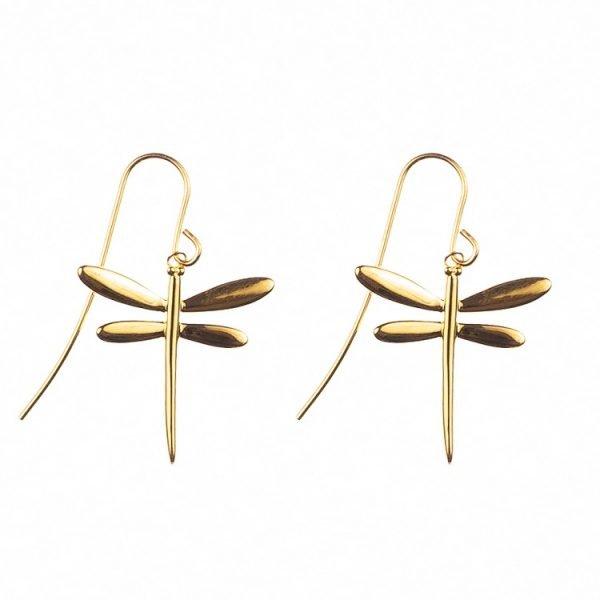 Sländörhängen i guld