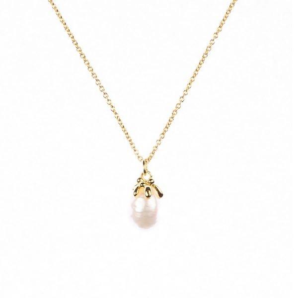 Guldhalsband med sötvattenspärla