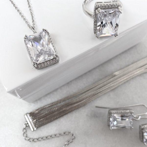 armband dam i silver