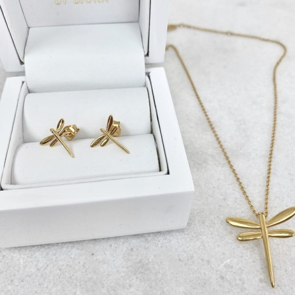 smycken med sländor i guld