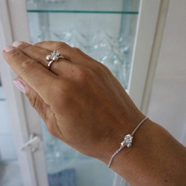 armband med sten